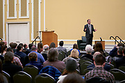 A large crowd turned out to listen to Kenneth Stern deliver his keynote address on the modern divide between Democrat and Republican ideologies.
