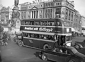 1954 - Kellogg's breakfast cereal advertisement on bus in Dublin