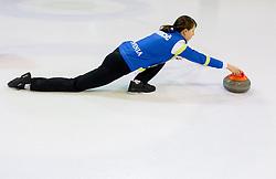 Valentina Jurincic during a training session of Team Slovenia Women Curling team for 2013 European Women's Curling Championships  on November 18, 2013 in Arena Zalog, Ljubljana, Slovenia.  Photo by Vid Ponikvar / Sportida