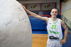 Miha Vasl during Open day of Slovenian U20 National basketball team before the European Chmpionship in Slovenia, on July 9, 2012 in Domzale, Slovenia.  (Photo by Vid Ponikvar / Sportida.com)