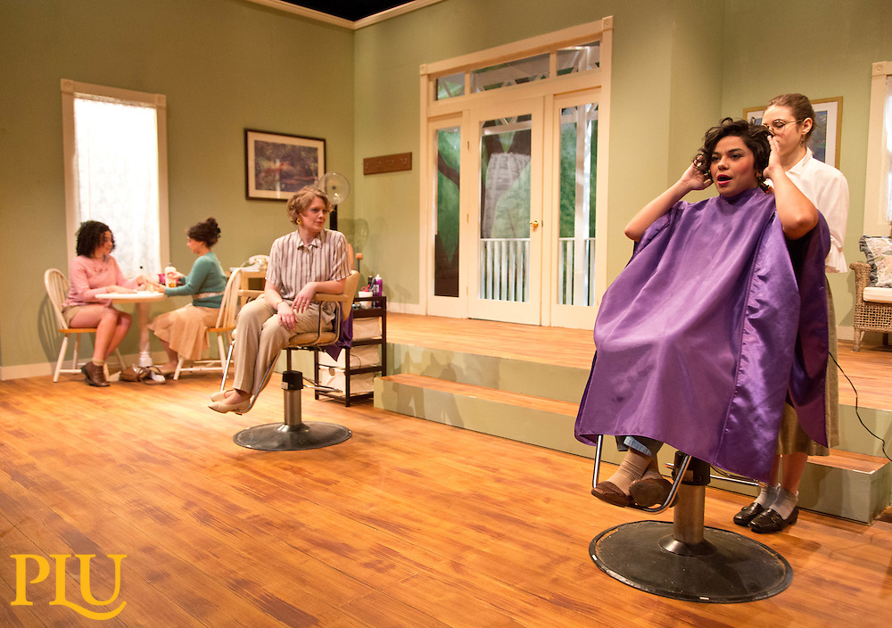 Steel Magnolias in the Studio Theatre of the Karen Hille Phillips Center, at PLU on Wednesday, March 11, 2015. (Photo by /John Froschauer/PLU)