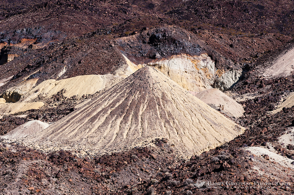 United States, California, Death Valley. Mining deposits near Dante's view, Furnace Creek road.