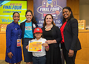 Kennedy Elementary School is recognized during the reveal of the 32 finalists in the Houston ISD NCAA Read to the Final Four, November 11, 2015.