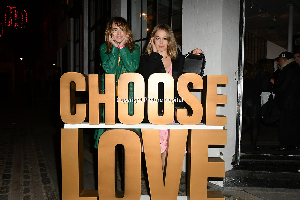 Suki Waterhouse arrives at Choose Love shop launch at Foubert's Place, Carnaby on 22 November 2018, London, UK.