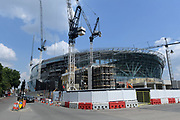 London, United Kingdom; General overall view of the construction site of the Tottenham Hotspur FC Stadium (White Hart Lane Stadium). The facility will feature a retractable grass field with an artificial surface underneath that would be used for NFL games. A minimum of two games per year will be played during a 10-year partnership between the NFL and the English Premier League team. The Oakland Raiders will play host to the Seattle Seahawks in the inaugural NFL International Series game at Tottenham on Oct. 14, 2018.