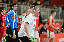 Nicolaj Jacobsen, head coach of Denmark during handball match between National teams of Germany and Denmark on Day 4 in Main Round of Men's EHF EURO 2018, on January 21, 2018 in Arena Varazdin, Varazdin, Croatia. Photo by Mario Horvat / Sportida