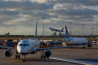 Jet Blue Airliners at JFK International Airport in New York City. (Photo by Robert Caplin)