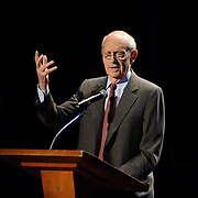 US Supreme Court Justice Stephen Breyer speaks during a Writers on a New England Stage show at The Music Hall in Portsmouth, NH