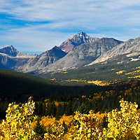 glacier national park ,cutbank valley, fall