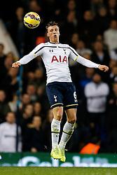 Vlad Chiriches of Tottenham Hotspur in action - Photo mandatory by-line: Rogan Thomson/JMP - 07966 386802 - 30/11/2014 - SPORT - FOOTBALL - London, England - White Hart Lane - Tottenham Hotspur v Everton - Barclays Premier League.