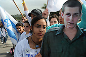 Israel News - Activists for the release of Gilad Shalit protest near Hadarim Prison