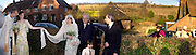 Marriage  of Emily Mortimer, ( daughter of John Mortimer )  to Alessandro Nivola, Turville.  © Copyright Photograph by Dafydd Jones 66 Stockwell Park Rd. London SW9 0DA Tel 020 7733 0108 www.dafjones.com