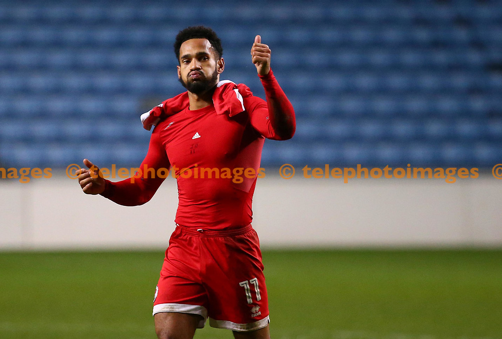 Crawley's Jordan Roberts seen after  the Sky Bet League 2 match between Coventry City and Crawley Town at the Ricoh Arena in Coventry. 25 Nov 2017