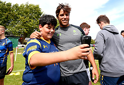 Dean Hammond of Worcester Warriors poses for a selfie as  Worcester Warriors host a summer holiday rugby camp at Malvern College - Mandatory by-line: Robbie Stephenson/JMP - 16/08/2017 - RUGBY - Malvern College - Worcester, England - Worcester Warriors - Malvern Rugby Camp