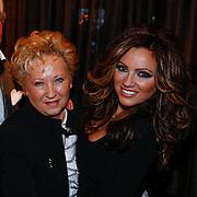 NLD/Amsterdam/20121206 - Onthulling Playboy Tatjana Simic kalender, Tatjana met haar moeder