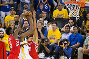 Golden State Warriors forward Kevin Durant (35) takes the ball to the basket against the Houston Rockets during Game 6 of the Western Conference Finals at Oracle Arena in Oakland, Calif., on May 26, 2018. (Stan Olszewski/Special to S.F. Examiner)