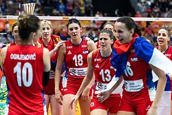 20-10-2018 JPN: Final World Championship Volleyball Women day 21, Yokohama<br /> Serbia - Italy 3-2 / Tijana Boskovic #18 of Serbia, Ana Bjelica #13 of Serbia