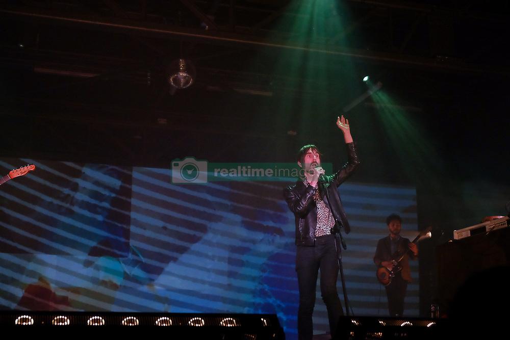 "September 29, 2018 - Turin, Italy - I Baustelle  alle OGR di Torino per un evento speciale, totalmente dedicato al loro album ""Amen"".The OGR Turin,Italy celebrate the first years of activity, for special occasion,on stage the ''BAUSTELLE'' that a special concert celebrate the 10 years of their record ''Amen' (Credit Image: © Bruno Brizzi/Pacific Press via ZUMA Wire)"