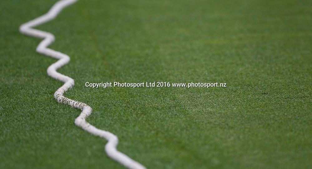 Wiggly boundary, ODI Cricket, Black Caps v Pakistan, McLean Park, Napier, New Zealand. Thursday, 28 January, 2016. Copyright photo: John Cowpland / www.photosport.nz