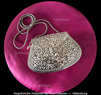 A Spectacular Silver Purse at Wualaisilpa Shop in Chiang Mai, Thailand