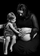 Michaela with her mum