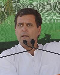 March 23, 2019 - Malda, West Bengal, India - President of Indian National Congress Rahul Gandhi address a campaign rally ahead of Lok Sabha or Genral Election 2019 at Chanchal, Malda. (Credit Image: © Saikat Paul/Pacific Press via ZUMA Wire)