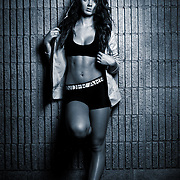 Fitness photo-shoot with model Kristi Serbu. Photos by Leonardo Carrizo
