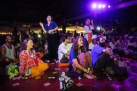 Karnamrita Dasi performing at Bali Spirit Festival, Arma, Ubud, Bali, Indonesia, 19/03/2014.