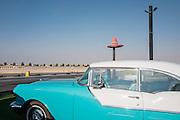 DUBAI, UAE — DECEMBER 30, 2016: Street Food Truck Park called Last Exit on Sheikh Zayed Road