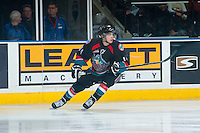 KELOWNA, CANADA - NOVEMBER 20: Rourke Chartier #14 of the Kelowna Rockets skates against the Victoria Royals on November 20, 2013 at Prospera Place in Kelowna, British Columbia, Canada.   (Photo by Marissa Baecker/Shoot the Breeze)  ***  Local Caption  ***