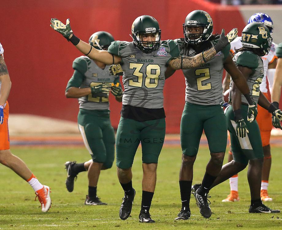 Baylor linebacker Jordan Williams (38) during the Cactus Bowl NCAA college football game against Boise State, Tuesday, Dec. 27, 2016, in Phoenix. (AP Photo/Rick Scuteri)