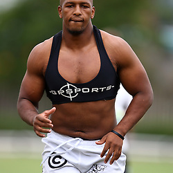 DURBAN, SOUTH AFRICA, Monday 11,January 2016 - Khaya Majola during The Cell C Sharks Pre Season training Monday 11th January 2016,for the 2016 Super Rugby Season at Growthpoint Kings Park in Durban, South Africa. (Photo by Steve Haag)<br /> images for social media must have consent from Steve Haag