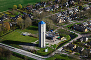 Nederland, Friesland, Gemeente Frankeradeel, 16-04-2012; Franeker,, betonnen watertoren..Concrete water tower in the city of Franeker (North Netherlands)..luchtfoto (toeslag), aerial photo (additional fee required);.copyright foto/photo Siebe Swa