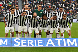 November 5, 2017 - Turin, Italy - Juventus team posing with celebratory vest for the club's 120th anniversary before the Serie A football match between Juventus FC and Benevento Calcio on 05 November 2017 at Allianz Stadium in Turin, Italy. (Credit Image: © Massimiliano Ferraro/NurPhoto via ZUMA Press)