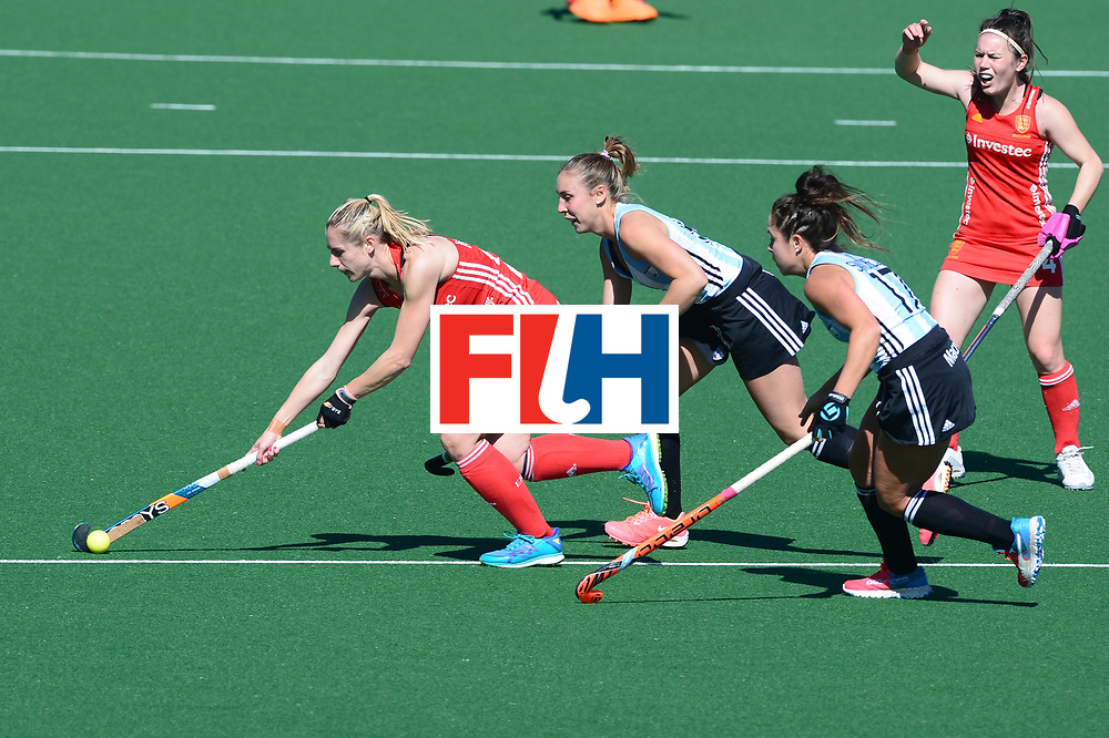 JOHANNESBURG, SOUTH AFRICA - JULY 23: Jo Hunter of England during day 9 of the FIH Hockey World League Women's Semi Finals 3rd-4th place match between England and Argentina at Wits University on July 23, 2017 in Johannesburg, South Africa. (Photo by Getty Images/Getty Images)