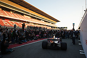 February 26, 2017: Circuit de Catalunya. Scuderia Toro Rosso team launch of the STR12 with Carlos Sainz Jr. (SPA) and Daniil Kvyat, (RUS).