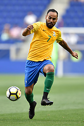 July 7, 2017 - Harrison, New Jersey, U.S - French Guiana midfielder ANTHONY SOUBERVIE (7) in action during CONCACAF Gold Cup 2017 action at Red Bull Arena in Harrison New Jersey Canada defeats French Guiana 4 to 2. (Credit Image: © Brooks Von Arx via ZUMA Wire)