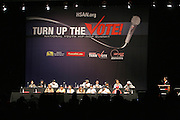 "Panel at The Hip Hop Research and Education Fund(HREF), PowerPAC and the HipHop Summit Action Network (HSAN) present the national ""HipHop Team Vote: Turn Up the Vote"" campaign event held at Temple University's Liacouras Center Arena on April 20, 2008 ..The HipHop Team Voe: Turn up the Vote brings together hiphop stars and community activists to send a strong, clear message to 18-35 year olds about the importance of voting in the Pennsylvania primary and national presidential election."