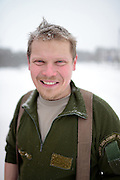 Portrait of Antti, young Finnish man in Inari, Lapland