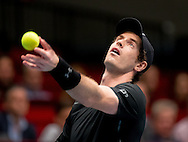 Andy Murray during the Tie Break Tens competition at the Erste Bank Open 500 at the Wiener Stadthalle, Vienna, Austria.<br /> Picture by EXPA Pictures/Focus Images Ltd 07814482222<br /> 23/10/2016<br /> *** UK & IRELAND ONLY ***<br /> <br /> EXPA-PUC-161024-0040.jpg