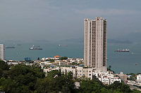 HK harbour from Pok Fu Lam, Hong Kong.