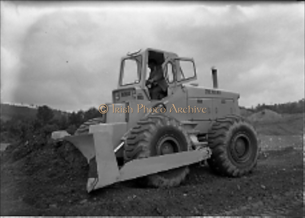 01/08/1962<br /> 08/01/1962<br /> 01 August 1962<br /> Michigan 180 Dozer at Kilternan Quarry. the 1st pneumatic tyred dozer in Ireland imported by McNeill Group, Collinstown Cross, for trial purposes.