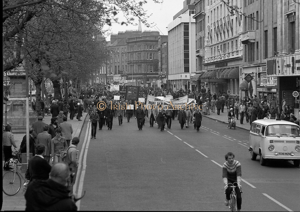 May Day Demonstration March.       (N72).<br />