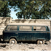 Abandoned Volkswagen Bus in Port au Prince, Haiti