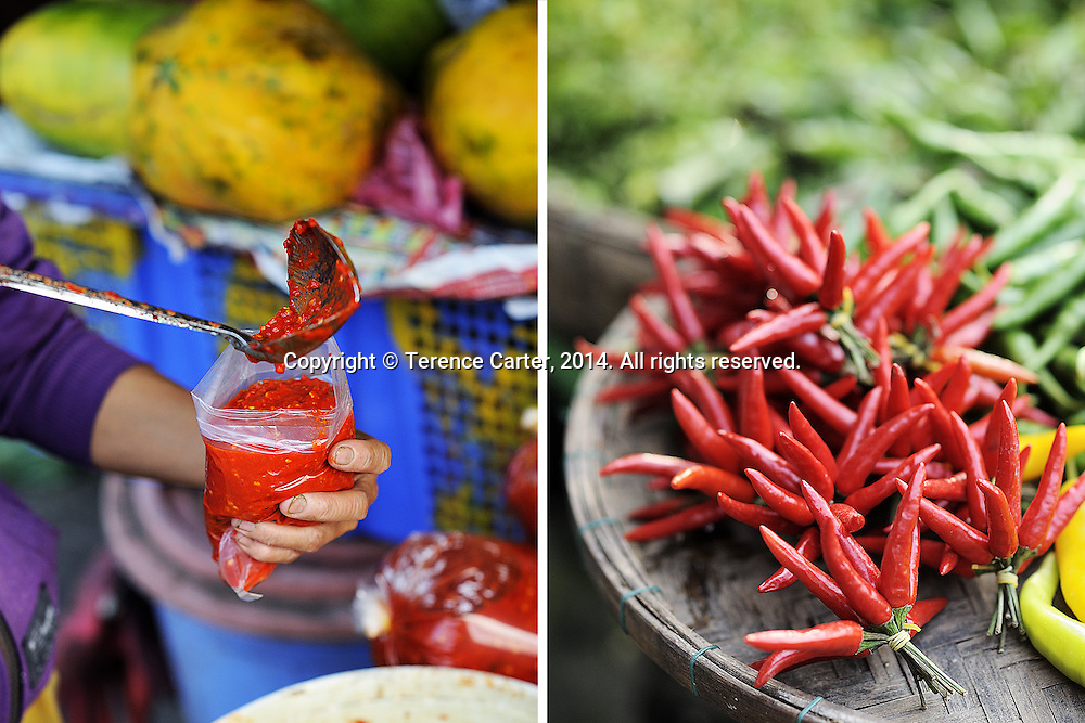 Hoi An Chilli Paste and chillis, Hoi An, Vietnam. Copyright 2014 Terence Carter / Grantourismo. All Rights Reserved.