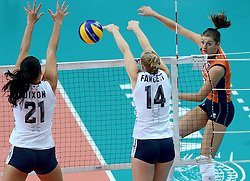 25-09-2014 ITA: World Championship Volleyball Nederland - USA, Verona<br /> Nederland verliest met 3-0 van team USA / Anne Buijs