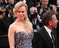Nicole Kidman and Tim Roth at the the Grace of Monaco gala screening and opening ceremony red carpet at the 67th Cannes Film Festival France. Wednesday 14th May 2014 in Cannes Film Festival, France.