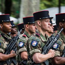 C&eacute;l&eacute;bration du 14 juillet, f&ecirc;te nationale fran&ccedil;aise, mettant &agrave; l'honneur en 2016 le soutien militaire de l'Australie et de la Nouvelle-Z&eacute;lande pendant la grande guerre au travers de leurs d&eacute;tachements interarm&eacute;es; les &eacute;tablissement de formation, ainsi que les missions int&eacute;rieures avec notamment la r&eacute;serve op&eacute;rationnelle du 24e RI. <br /> L'ann&eacute;e 2016 est aussi celle de la premi&egrave;re participation des Douanes fran&ccedil;aises et de l'Administration p&eacute;nitenciaire au d&eacute;fil&eacute; parisien. Pr&eacute;paratifs et d&eacute;fil&eacute; militaire sur les Champs Elys&eacute;es devant le pr&eacute;sident de la R&eacute;publique.<br /> Juillet 2016/ Paris (75) / FRANCE<br /> Voir le reportage complet ( photos) http://sandrachenugodefroy.photoshelter.com/gallery/2016-07-Ceremonie-du-14-juillet-Complet/G00008lpYvGpU3xI/C0000yuz5WpdBLSQ
