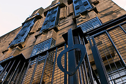 Exterior view of Glasgow School of Art designed by Charles Rennie Mackintosh in Glasgow United Kingdom