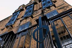 Exterior view of Glasgow School of Art designed by Charles Rennie Mackintosh in Glasgow United Kingdom